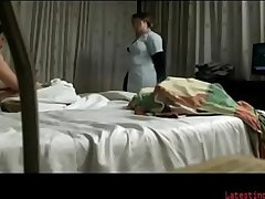 Horny indian men having sex with room service in hotel room